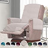 RHF Reversible Oversized Recliner Cover, Slipcovers for Recliner, Oversized Chair Covers, Pet Cover for Recliner, Machine Washable(XRecliner:Oversized: Light Beige/Light Beige)
