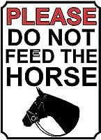 馬に餌をやらないでくださいブリキの看板壁の装飾金属ポスターレトロプラーク警告看板オフィスカフェクラブバーの工芸品