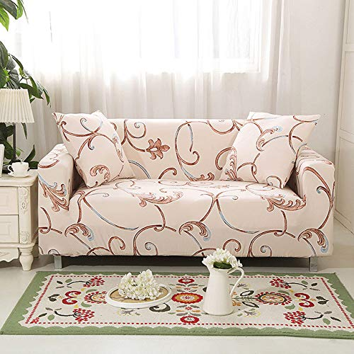 LCDIEB Sofa cover Marble sofa cover spandex for living room elastic material double-seat sofa loveseat chair slipcovers couch covers,Color 8,four,seat 235,300cm