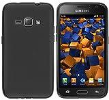 mumbi Hülle kompatibel mit Samsung Galaxy J1 2016 Handy Hülle Handyhülle, schwarz