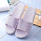SXYRN Beach Pool Sandals Casual, Pantuflas Huecas deslizantes para Interiores-Stone - Purple_36 / 37, Zapatos de Secado rápido con Punta Abierta para la Piscina