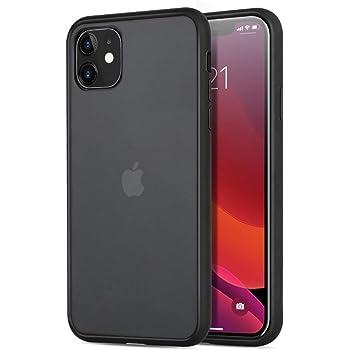 MEMUMI Hybrid Case para iPhone 11 6.1 Inch Funda translúcido Mate con Bordes Suaves de TPU [Shockproof Tested Certified] Material D3O a Prueba de Golpes para iPhone 11 Case Negro Translúcido Mate