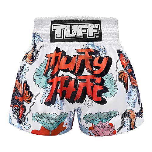 Tuff Ms638-wht, Boxhose, Muay Thai, für Kick, Kampfsport, Training, Fitnessstudio, Größe L