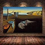 wZUN Persistencia surrealismo Pintura al óleo Lienzo póster impresión Pared Arte Imagen Sala de Estar 60x80 Sin Marco