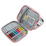 RWEAONT Ganchillos ganchillos Coloridos Hilos ergonómicos Conjuntos de Aguja de Crochet suéter tejiendo needazos de Bricolaje Bufanda de la Bufanda Accesorios de Costura (Color : Set with Pink Bag)