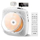 Reproductor de CD portátil,Altavoces HIFI integrados con Bluetooth,Montaje en pared con cubierta antipolvo,Radio FM, Reproductor de música MP3 USB,Conector AUX de 3,5 mm, Control remoto,Buenos regalos