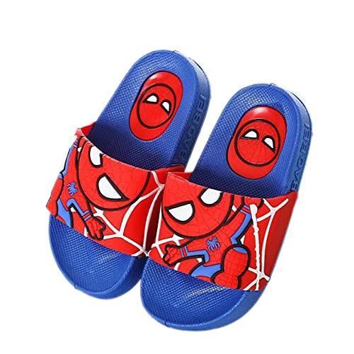 LQ-ZHUOJIAO Niños Zapatillas De Verano Sandalias De Spiderman para Niños Zapatos De Piscina De Playa Sandalias Deportivas Al Aire Libre Chanclas,Blue-36size