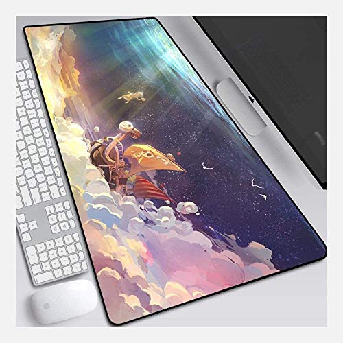 Gaming Alfombrilla de Ratón Grande Speed ​​Gaming Mouse Pad Onepiece Big Extended Mouse Mat Teckboard Mat Mousefad Mousepad para computadora PC Desk Home Office (Color : M, Size : 900 * 300 * 3mm)