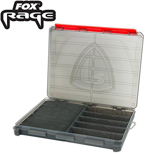 Fox Rage Compact Storage Box Large 28x22,56x3cm - Tacklebox für Jighaken & Angelhaken, Angelbox, Kleinteilebox, Box für Jigköpfe