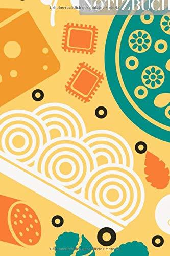 Notizbuch: Salami Käse Nudeln Pasta Muster Pattern • 111 Seiten  • EXTRA Kalender 2020 •  Einzigartig •  Dotgrid •  Dotted •  Punktraster  • Geschenk • Geschenkidee