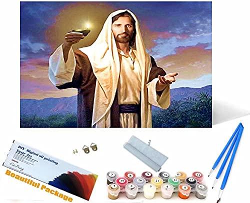 Beaxqb Dipingi per Numero per Adulti, Cultura Religiosa Pittura Creativa su Tela Ideale Regalo per Bambini Adulti 30x40cm
