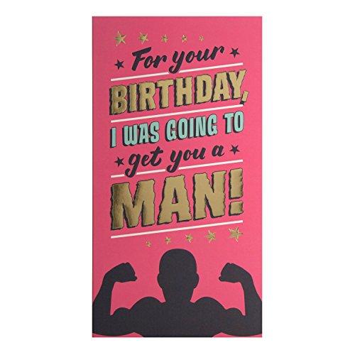 Hallmark verjaardagskaart voor Funny 'ontvang een man' – medium