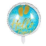 Boland-53241 Globo de plástico de Hello Boy, Multicolor (53241)