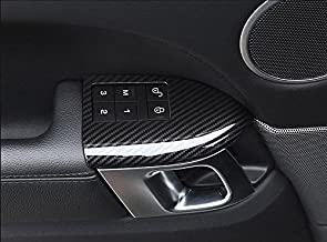 for Range Rover Sport 2014-2020, ABS Plastic Child Safety Lock Button Frame Cover (with Seat Memory Button Frame)