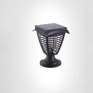 Mosquito Killer, Outdoor Insecticidal Lamp Ultraviolet Rays Rainproof Garden Lights Solar Energy Fence Column Post Lights ...
