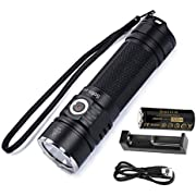 Sofirn SP33 Powerful LED Flashlight Brightest 2500 Lumens High Performance Cree XHP50.2 EDC Torch Best Tools for Camping, Hiking, Hunting