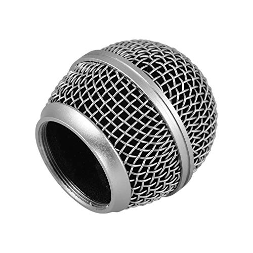 Micrófono Mic Grille sustitución de la cabeza de la bola Compatible con Shure SM58 / SM58S / SM58LC / BETA58 / BETA58A / SA-M30 / SV100 / UT2 / PGX24 / SLX4 Micrófonos Altavoz Portátil Reproductor