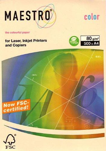 Kopierpapier Creme A4 80G 500Bl pastell Kopierer/Laser/Inkjet