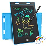 Timok LCD Writing Tablet 8.5 in Doodle Board Drawing Tablet Colorful LCD Writing Tablet for Kids 2-7 Year Reusable Drawing Board Educational and Learning Toys Drawing Pad Best Christmas Birthday Gift