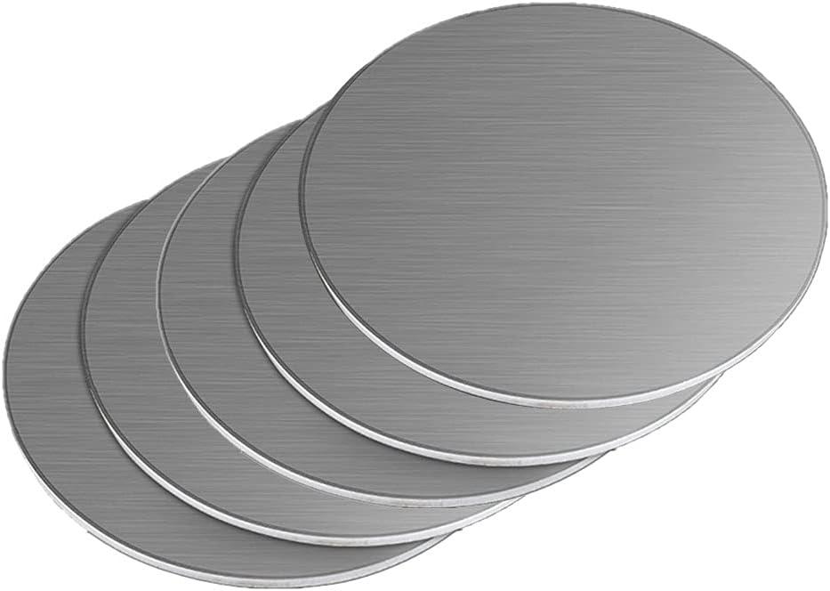 ZQQZ 304 chapas de Acero Inoxidable de 0.5mm / 1mm / 1.2mm / 1.5mm Espesor de la Hoja Redonda DIY Moldes,Diameter:50mm,Thickness:1mm