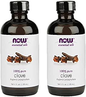 NOW Foods Clove Oil, 4 ounce (Pack of 2)