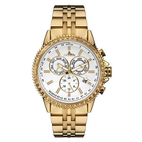 Richtenburg R11000 Cassiopeia Gold IP Weiss mit Edelstahlarmband Damen Automatik Armbanduhr
