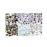 300pcs de uñas de arte decoración del Rhinestone del remache Conjunto de frutas Crystal Rhinestone Mixto Tamaño de la parte posterior plana 3D Accesorios de manicura
