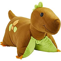 3. Pillow Pets Brown Dinosaur 18″ Plush
