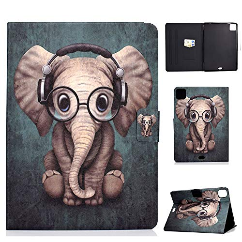 Billionn Funda para iPad Air de 4ª generación 2020/iPad Air 4 de 10,9 pulgadas 2020, funda tipo libro con bolsillo, función de encendido y apagado automático, elefante