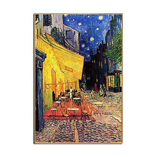 Cuadro En Lienzo Moderna Pintura Pósters y Printscanvas Murales Pases tranquilos Comedor o Sala de Estar Decoración de la casa por la Noche (Color : White, Size (Inch) : 20x30cm no Frame)