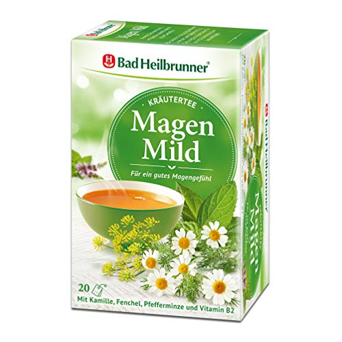Bad Heilbrunner Magen mild Tee im Filterbeutel, 5er Pack (5 x 20 Filterbeutel)