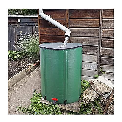 SHIJINHAO Colector De Agua De Lluvia, Barril De Lluvia Plegable Portátil, Filtro con Grifo Anti-envejecimiento Ahorra Espacio Usado para Agricultura, Industria (Color : Green, Size : 1000L/120x88cm)