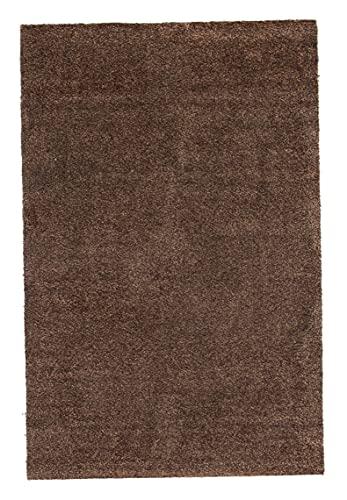 andiamo Schmutzfangmatte Samson waschbarer Teppich für den Innenbereich, 100 x 150 cm braun