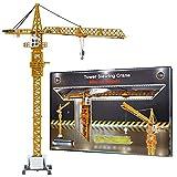 Xolye Juguetes de simulación de grúa pesada Colección regalo de los ornamentos Enseñanza de aleación modelo de grúa torre grúa de construcción de camiones de niños Sida exquisitos en caja Juguetes for