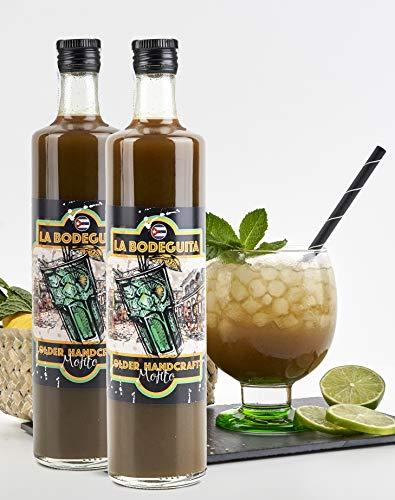 MOJITO LA BODEGUITA READY TO DRINK- Trinkfertig. Angerührt mit goldenem, im Fass gereiftem Rum von La Bodeguita. (Karton mit 2 Flaschen)