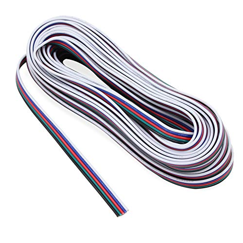 RGBW cable de extensión para el LED Strip RGBW 5050 cinta RGB blanco cálido 5pin Cable 10m Cable 33ft
