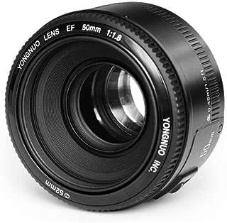 YONGNUO YN50mm F1.8 Standard Prime Lens lente de gran apertura de enfoque automático para Canon EF Mount Rebel DSLR cámara
