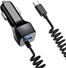 USB C Car Charger Compatible Samsung Galaxy S10 S10+ S10e S9 S8 S9+ S8 Plus Note 8/9 Car Charger, Google Pixel XL/2/2 XL/3/3 XL/3a Type C Car Charger
