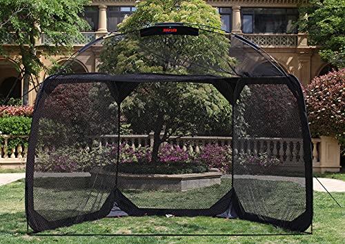 Kapler Batting Cage Baseball Softball Net,Pop up Batting Cage Backstop Net with Carry Bag,12'(L) X6'(W) X9.5'(H) Baseball Softball Batting Practice Cage Net