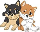 Bambinella® Bügelbild Aufbügler - gedruckte Velour/Flock Applikation zum selbst Aufbügeln - Motiv: Hund Shiba - gefertigt in eigener Werkstatt in Neuhof/Deutschland