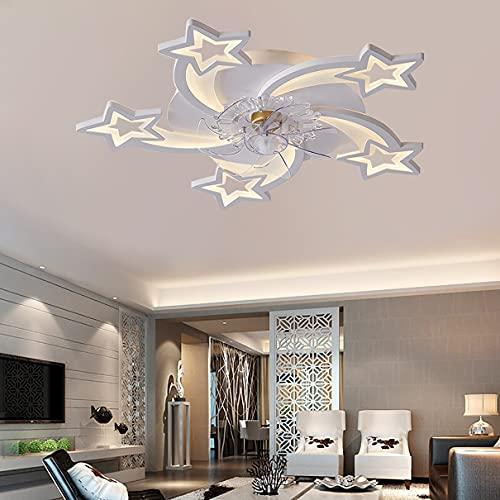 Dormitorio Reversible Ventilador Techo Con Luz Y Mando DC 6 Velocidades LED Regulable Ultradelgado Lamparas Ventilador De Techo Moderno Silencioso Sala Ventilador Techo Con Luz Y Temporizador
