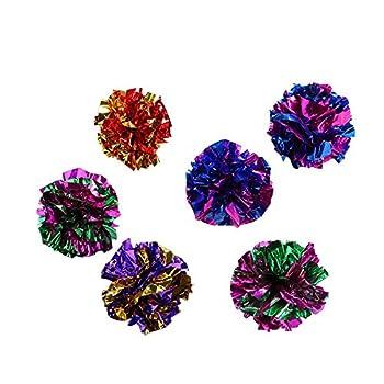 Demarkt Crinkle Balles jouet pour chat Sound Crinkle Balls Crackle Papier knister Balle Jouet animal chat 10PCS