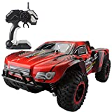 Fistone RC Car Rock Crawler High Speed Racing Cars Buggy 2.4G Remote Control Monster Truck Off-Road Vehicle Hobby Electronic Game Kids Toys Model (Red)