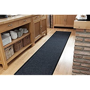 Navy Blue Dirt Catching Rubber Backed Floor Runner Rugs - Sold and Priced By The Foot - 2' 2  Wide