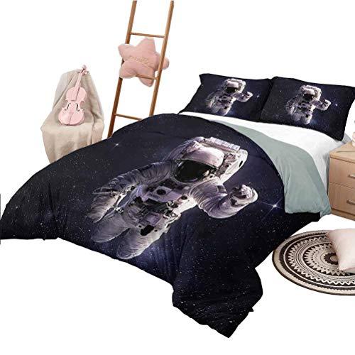 Nomorer Quilt Bedding Set Full Size Galaxy Bedding Bag Stardust Nebula Space