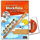 Super Fácil Flauta Aprendizaje para niños–Escuela Ideal para principiantes–Flauta Escuela con CD y Bunter herzförmiger–Partituras cascha Verlag hh10334026929918642