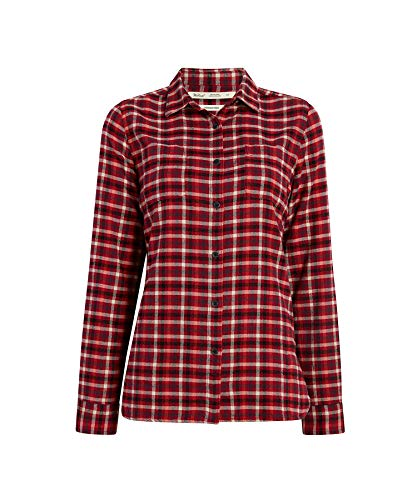 WOOLRICH Damen The Pemberton Flannel Shirt Button Down Hemd, Picante Check, Klein