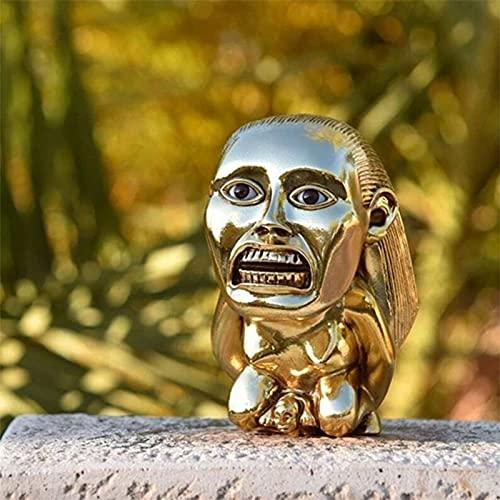 LEMOKIKI Indiana Jones Golden Fertility Idol, Indiana Jones Idol Golden Fertility Resine Statue | Commémorer Le 40e Anniversaire des aventuriers de l'arche Perdue | Souvenirs (B)