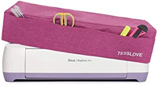 غطاء غبار من TESSLOVE لـ Cricut Explore Air & (Air2) Cricut Maker وCricut Explore 1 مع 3 جيوب لأدوات الملحقات (غطاء قطعة و...