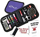 Craftlab Best Mini Sewing Kit with Sewing Survival Ebook, 78 Emergency Accessories For Home, Travel,...